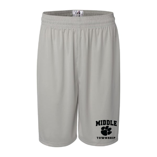 Image of Shorts w/ Athletic Logo (Silver)