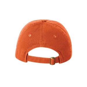 Image of Youth Baseball Cap w/ Embroidered Athletic Logo (Orange)