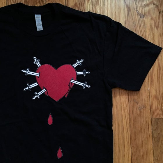 Image of HEART OF SORROWS FELT APPLIQUE TEE