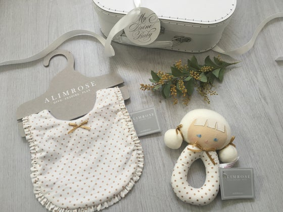Image of Gold and white Dotty Hamper