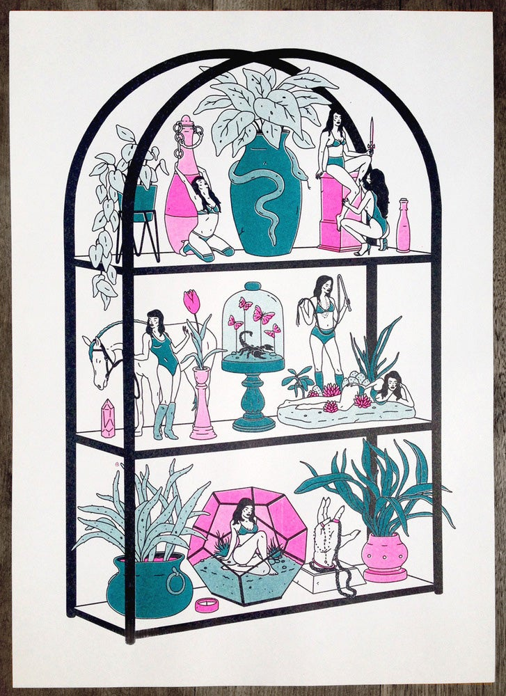 Image of 'HEIRLOOMS' Risograph Print
