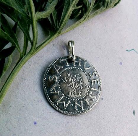 Awestruck workshop salem witch trial oak tree coins of 1692 pendant image of salem witch trial oak tree coins of 1692 pendant mozeypictures Images
