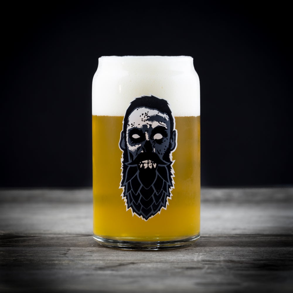 Beer Zombies Craft Can Glass