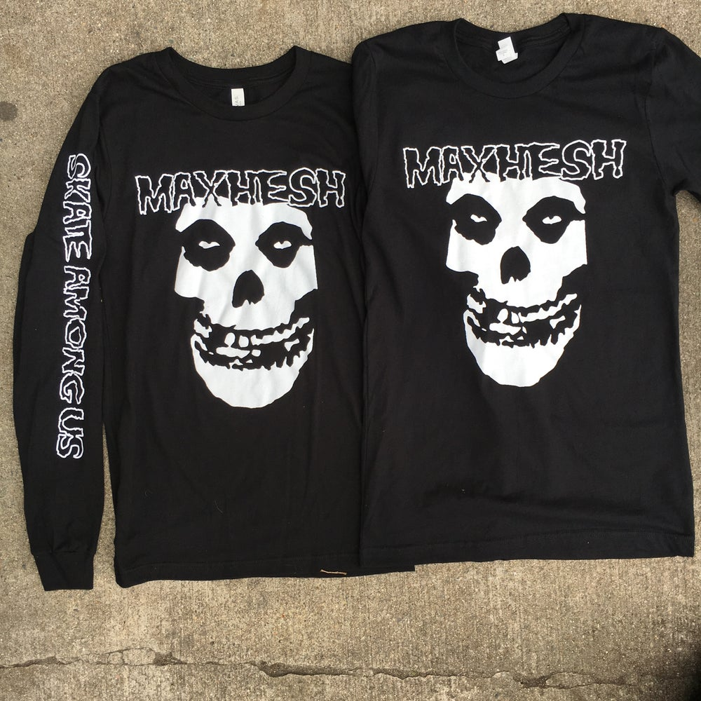 "Image of ""SKATE AMONG US"" Misfits X Max Hesh Tribute Long Sleeve T"