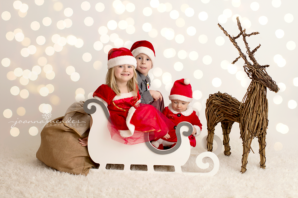 Image Of Beautiful WHITE Or RED Santa Sleigh Christmas Winter Photography Prop