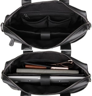 "Image of Men's Handmade Leather Briefcase / Messenger / 13"" 15"" MacBook 13"" 14"" Laptop Bag (n02B)"