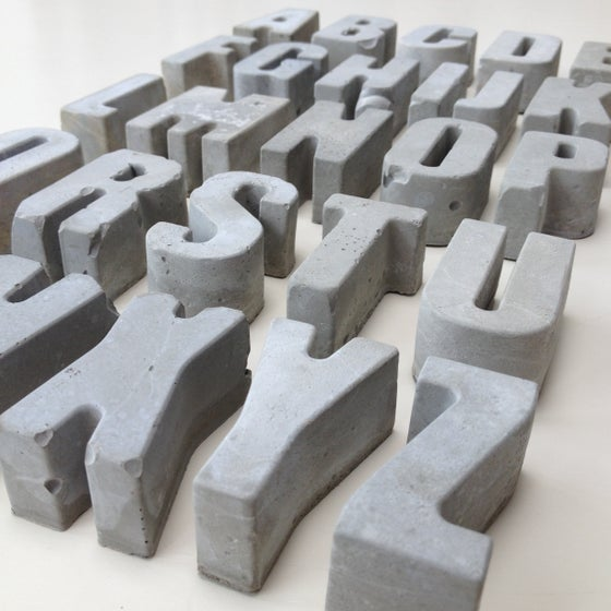 Image of Concrete letters
