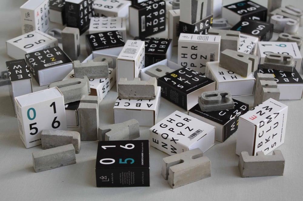 Image of Concrete letters