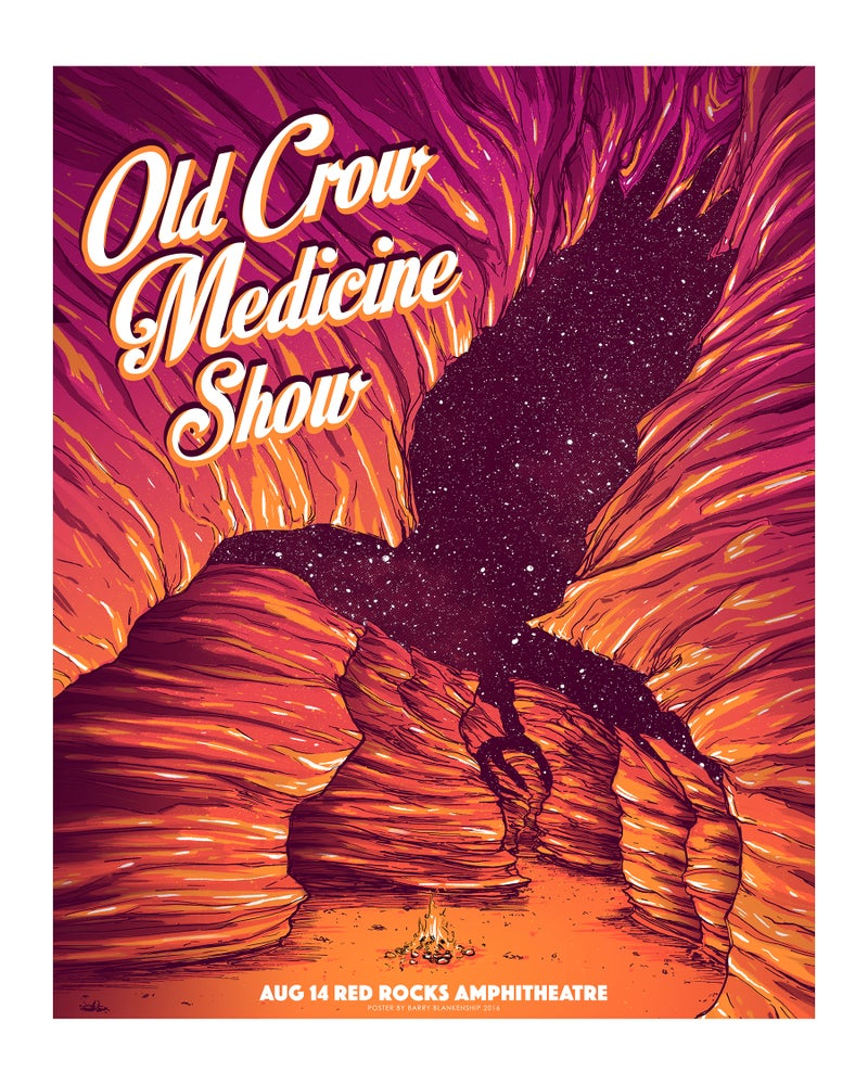 Image of Old Crow Medicine Show Red Rocks