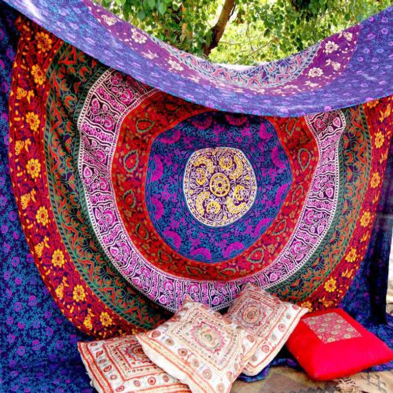 Image of Merlot Mandala Tapestry