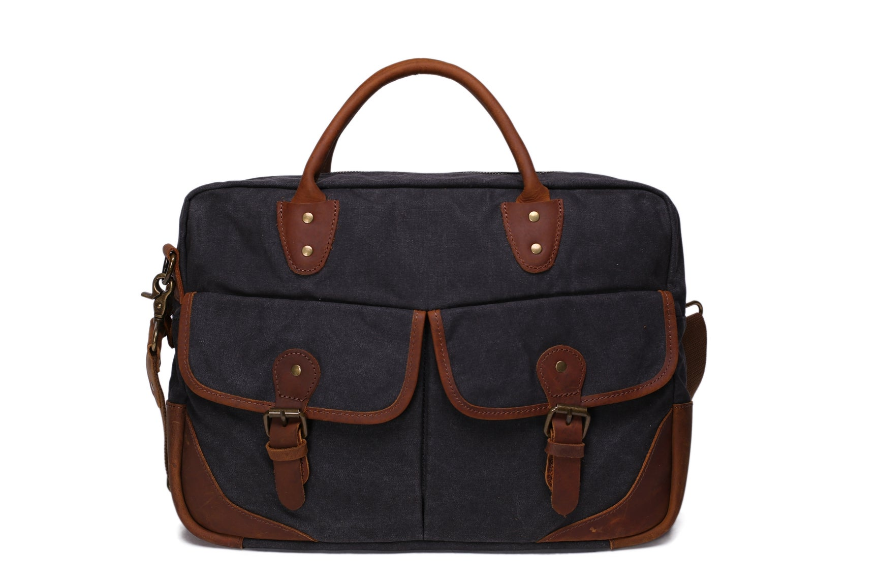 bf0c93af8a Waxed Canvas Leather Messenger Bag