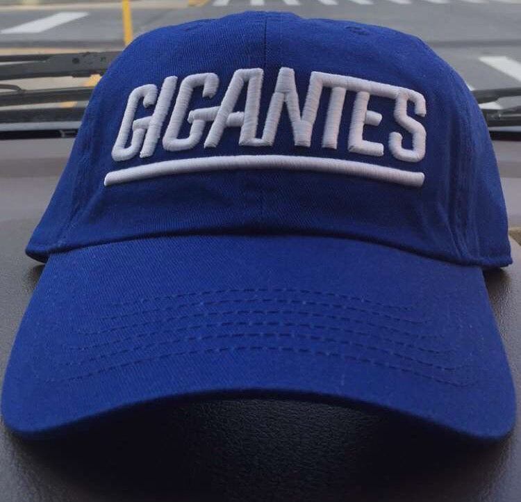 d6f7a6e428ee7 GIGANTES Blue Dad hat cap (New york Giants dad hat)   EmAitchCollection