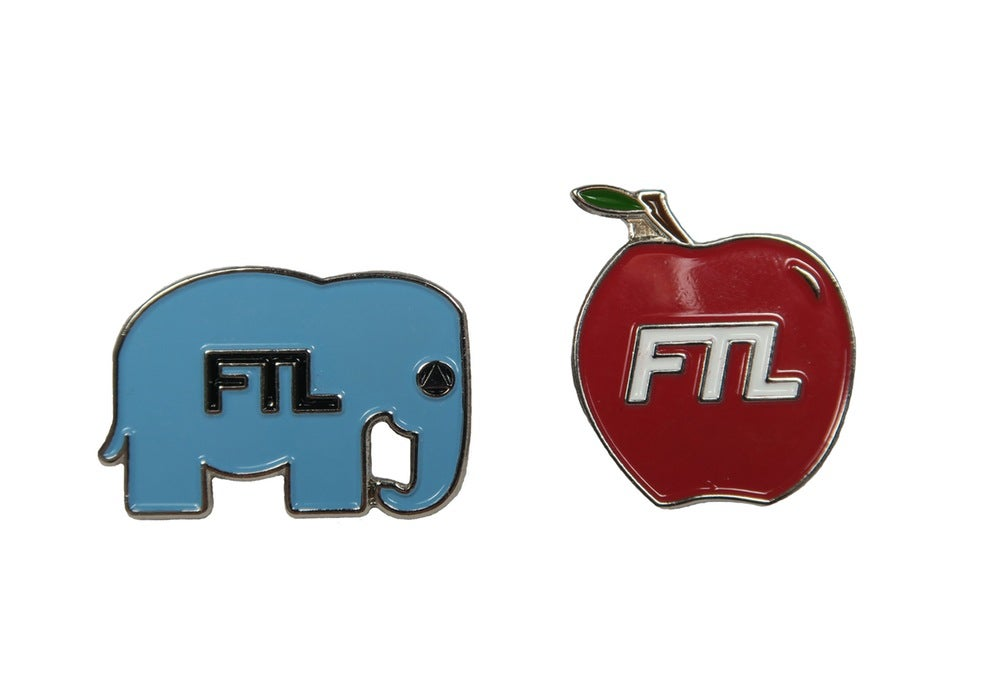 Image of Elephant, Apple & FTL PINS