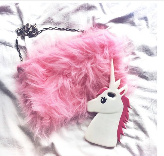 Image of The classic fluffy' the Pink one