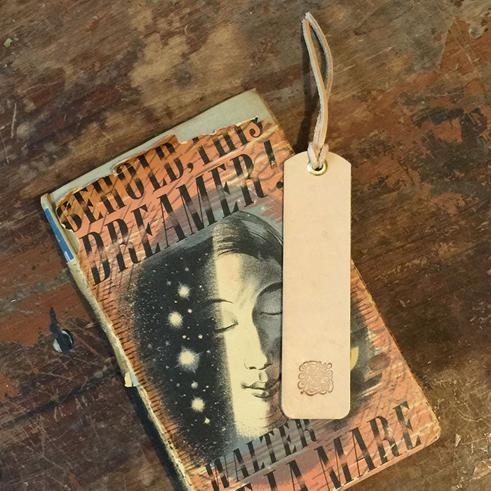 Image of Behold This Dreamer! Leather Bookmark