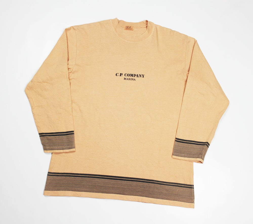 Image of CP Company Marina Long Sleeved T Shirt