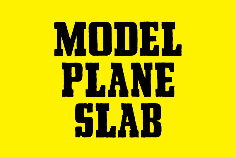 Image of Model Plane Slab font
