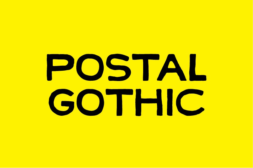 Image of Postal Gothic font