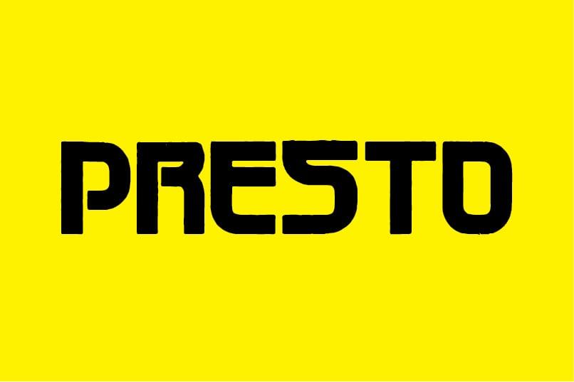 Image of Presto font