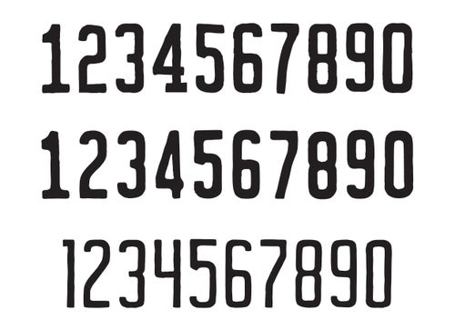 Image of Vanity Numbers Vector Set