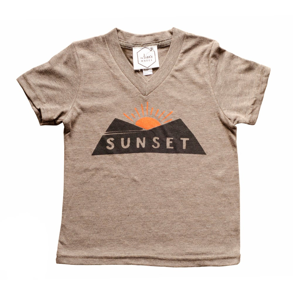 Image of SUNSET kids' tee - Triblend