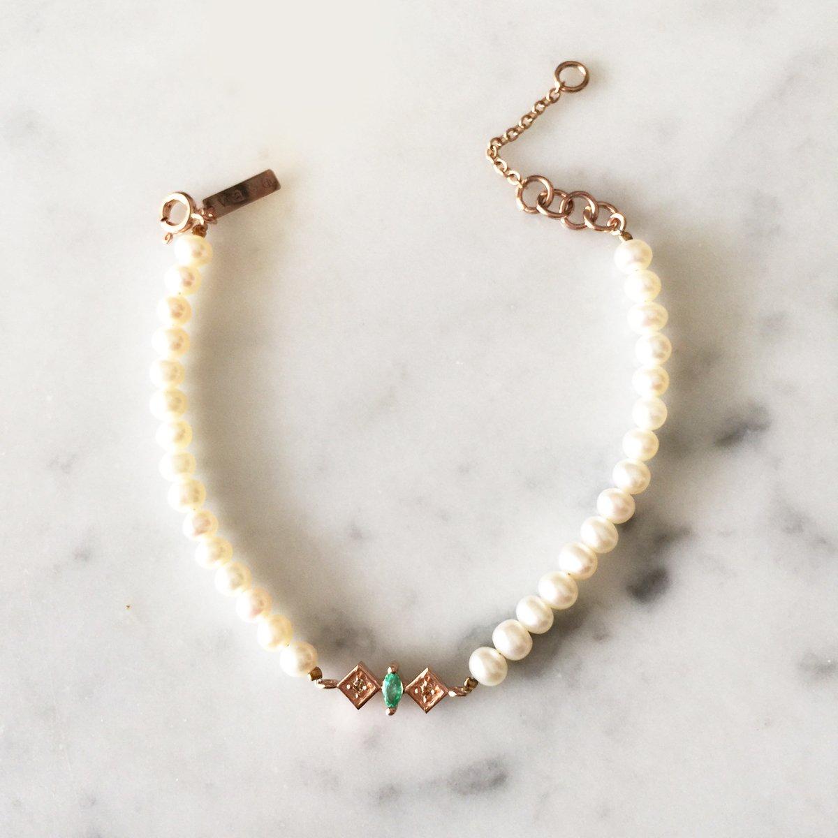 Image of Renee Pearl Bead Bracelet