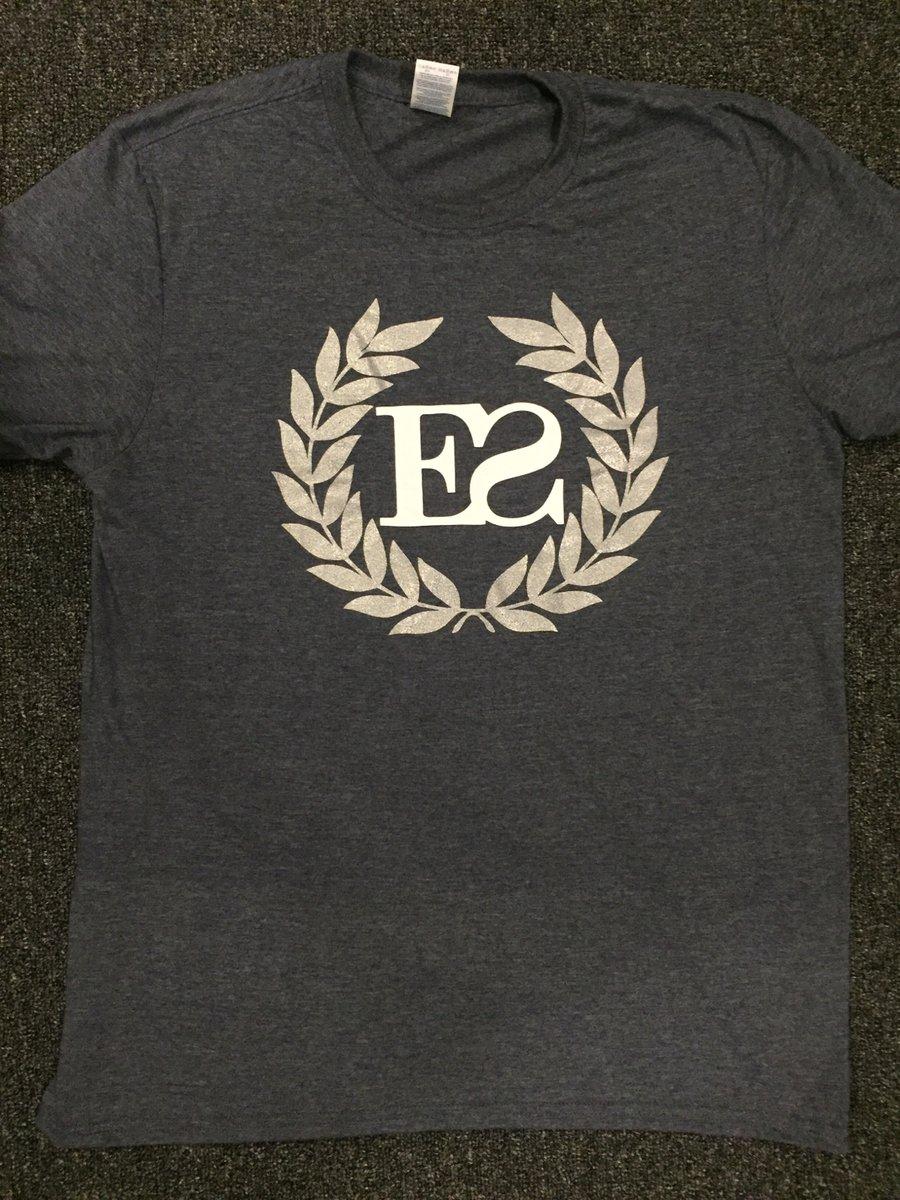 Image of Heather Navy Crest T-shirt