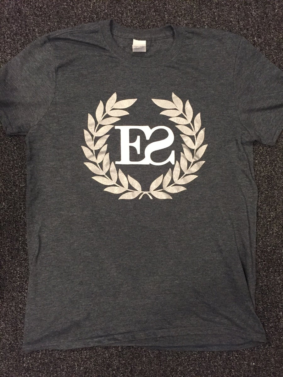 Image of Heather Charcoal Crest T-shirt