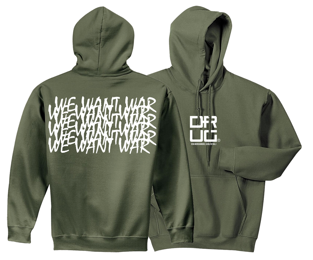 Image of WeWantWar Hoodie (Military Green)