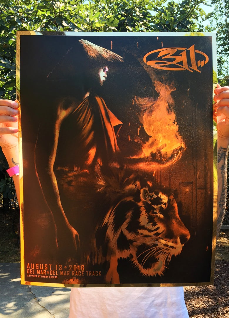 Image of 311 Del Mar Poster (Gold Foil)