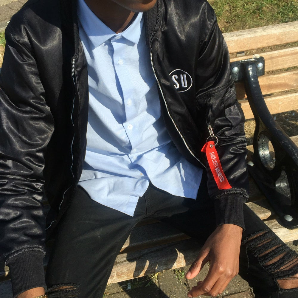 Image of BOMBER JACKET // BLACK