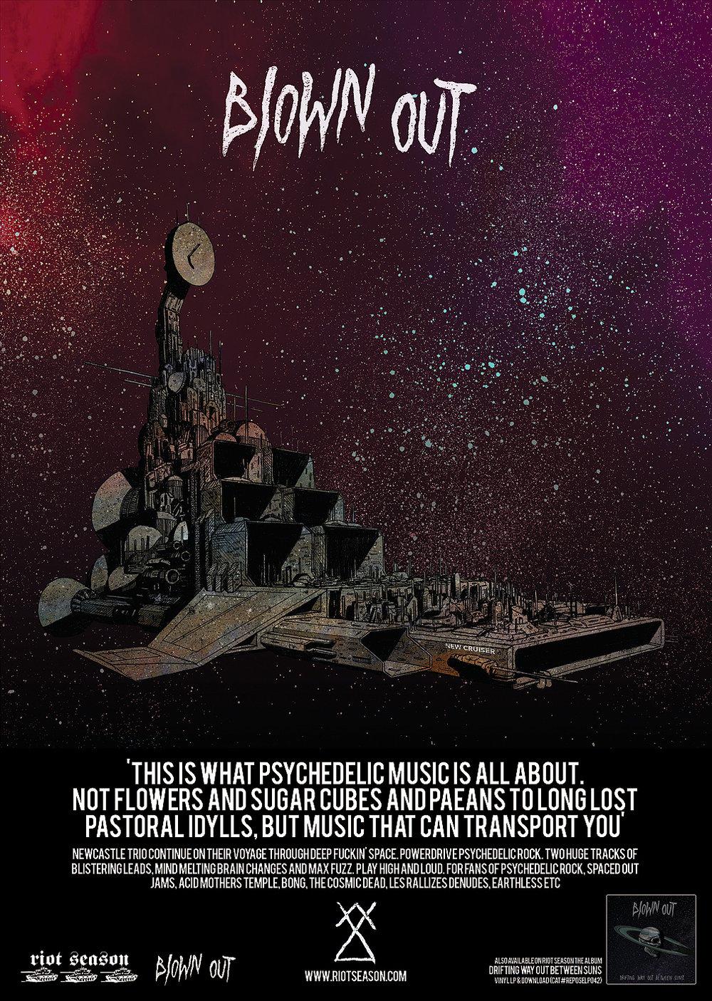 BLOWN OUT 'New Cruiser' Space Black Vinyl LP