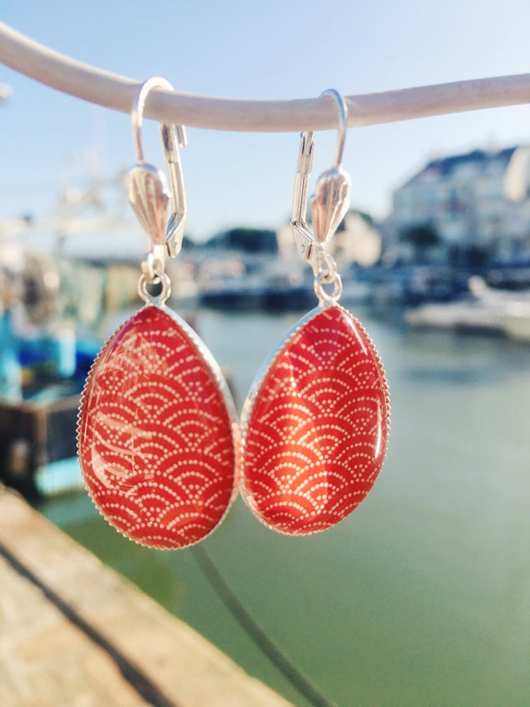 Image of Boucles dormeuses Saka Red