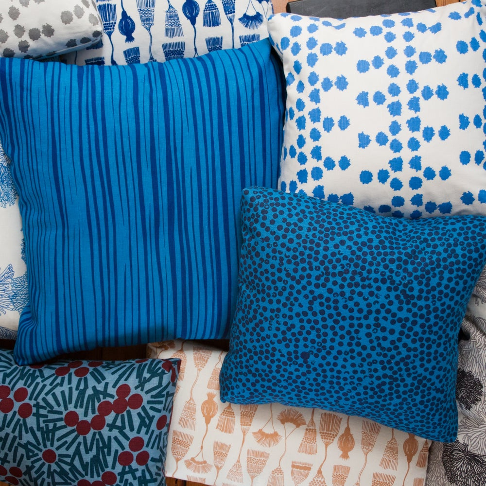 """Image of 22"""" Hand Printed Pillow Covers"""