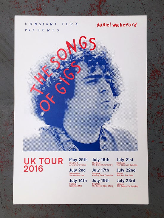Image of Daniel Wakeford Tour - Screenprinted Poster