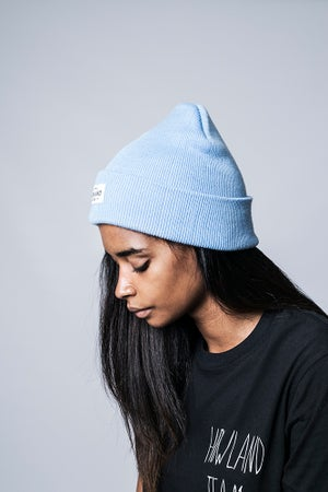 Image of LIGHT BLUE BEANIE
