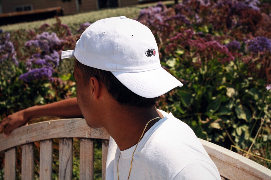 Image of Kick'n It dad hat (white)