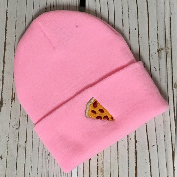 ... Image Of Wholesale   1 Dozen PIZZA Emoji Beanie Cuffed ...