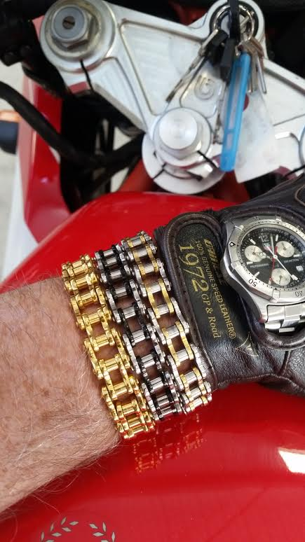 Image of Motorcycle Chain Bracelets