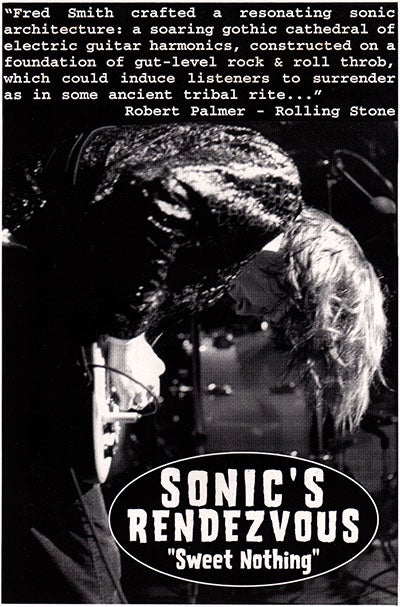 Image of SONIC'S RENDEZVOUS - SWEET NOTHING (CD)