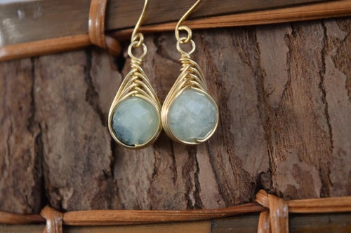 Image of The Aura Earring - Prehnite
