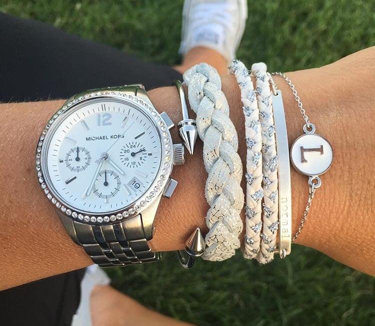 Image of Epoxy initial bracelet