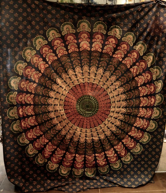 Image of Calming Mandala Tapestry