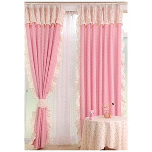 Image of Buy cheap lace curtains to embellish your residence