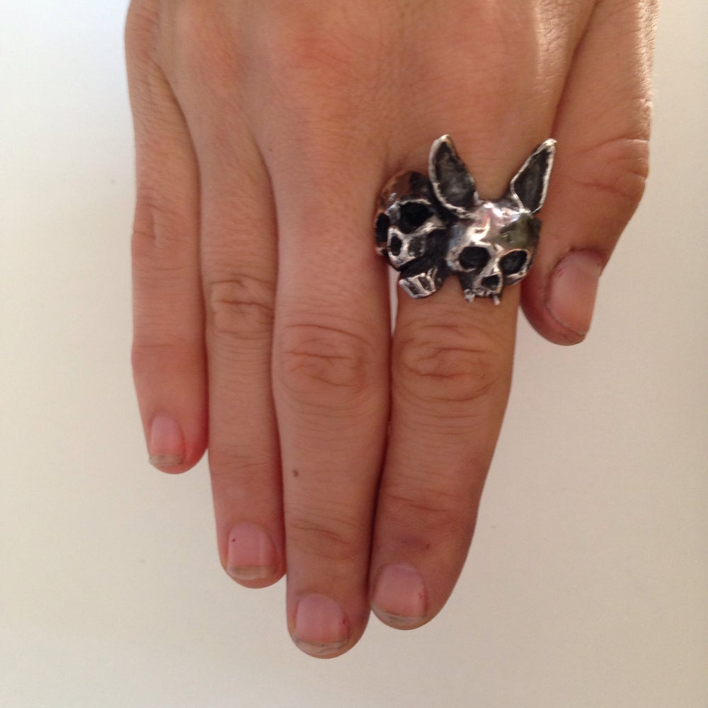 Image of The Rabbit and Skull ring