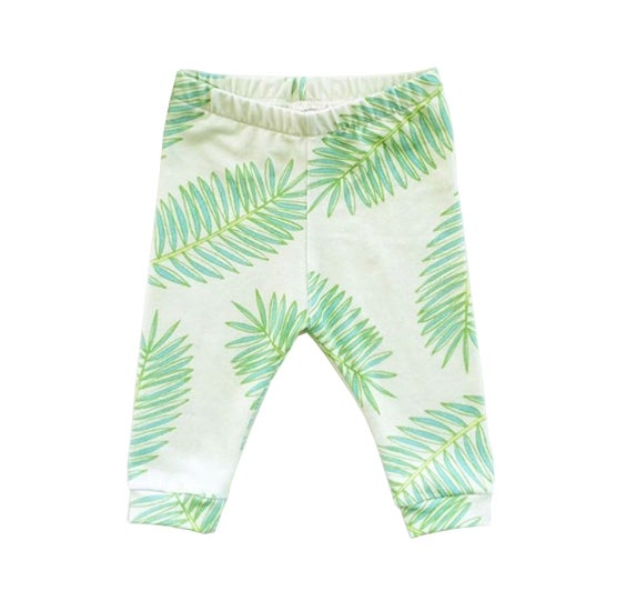 Image of Baby + Kids' Palm Frond Organic Leggings (gender neutral)