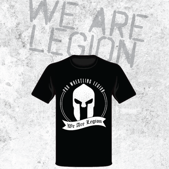 Image of Pro Wrestling Legion T-Shirt (We Are Legion) Black