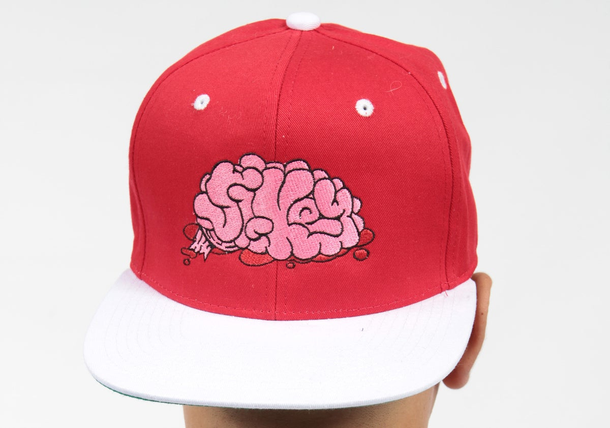 Image of Sikey red & white Snapback