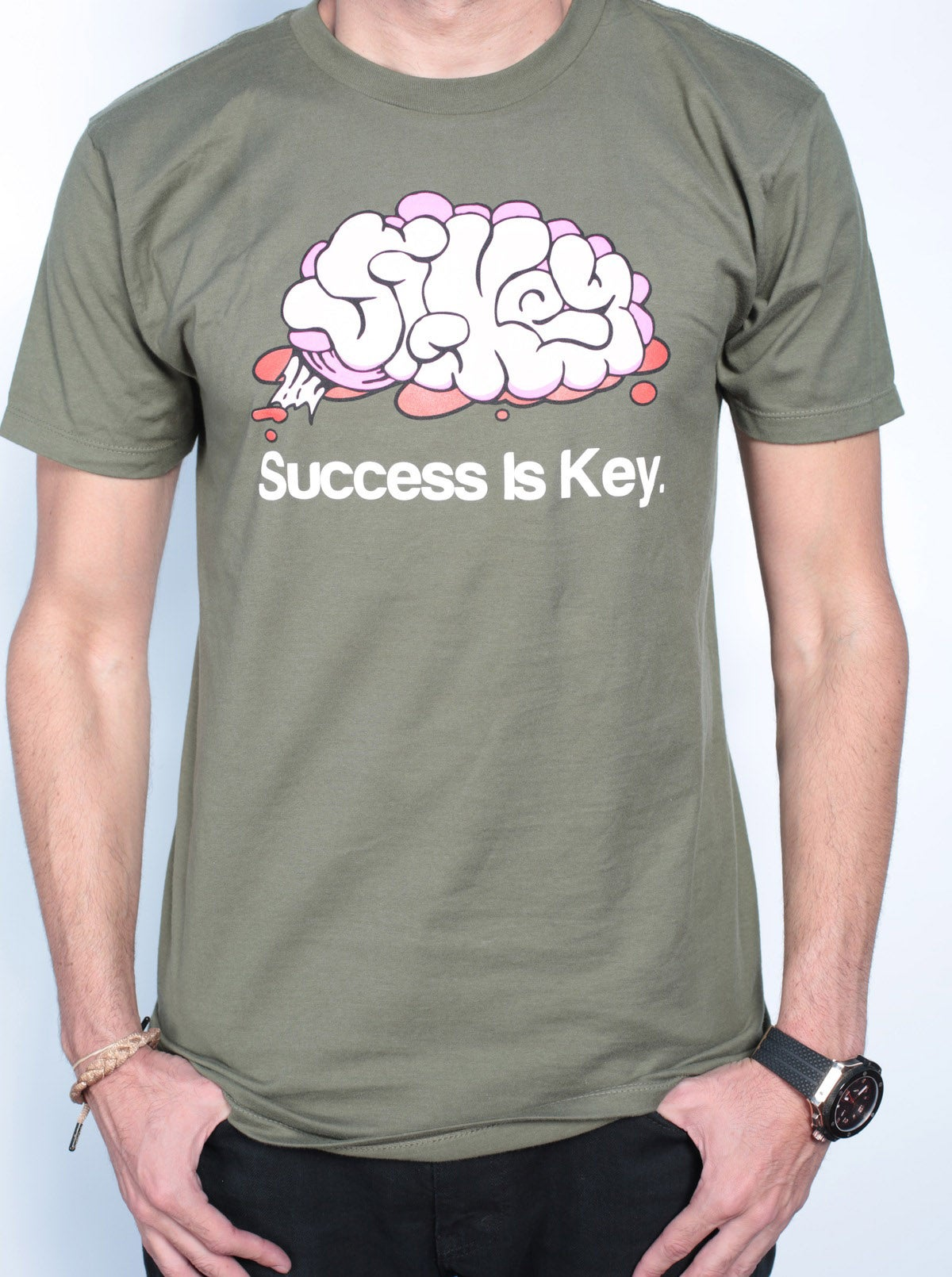 Image of Sikey Brain Army Green Legacy Tee