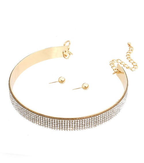 Image of Mini Rhinestone Choker